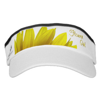 Sunflower Wedding FLOWER GIRL Visor
