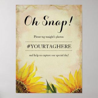 Sunflower Wedding Instagram Poster