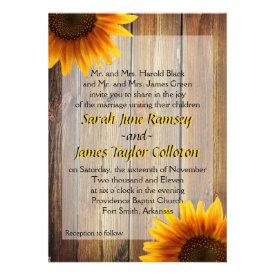 Sunflower Wedding Invitation