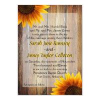Sunflower Wedding Invitation 5&quot; X 7&quot; Invitation Card (<em>$2.01</em>)