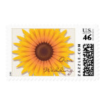 Sunflower Wedding Invitation Announcement 2 Postage Stamps