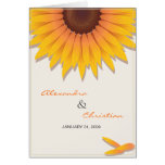 Sunflower Wedding Invitation Announcement Card 2