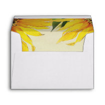 Sunflower Wedding Invitation Envelope