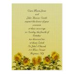 Sunflower  Wedding Invitation Postcards