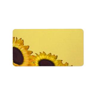 Sunflower Wedding Label