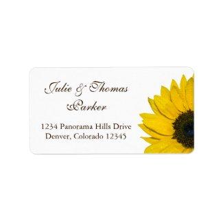 Sunflower Wedding or General Address Labels label