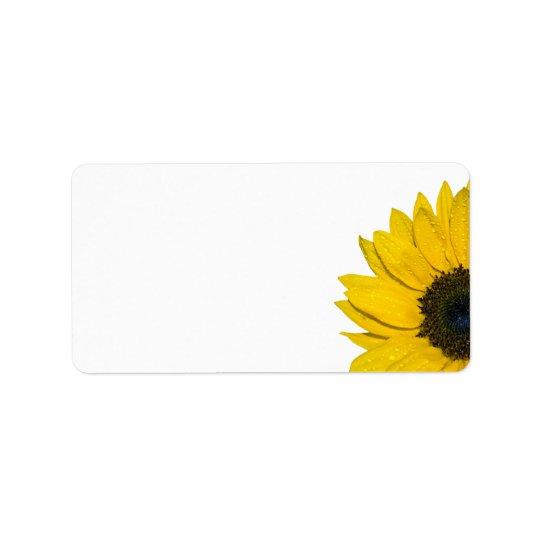 sunflower wedding or general blank address labels zazzle com