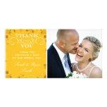 Sunflower Wedding Photo Thank You Cards Custom Photo Card