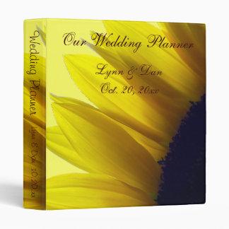 Sunflower Wedding Planner 3 Ring Binder