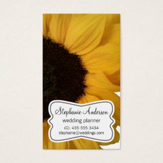 Sunflower Wedding Planner Business Card