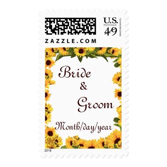 Sunflower Wedding Postage
