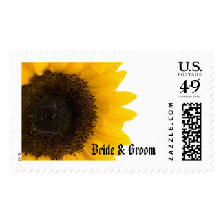 Sunflower Wedding Postage