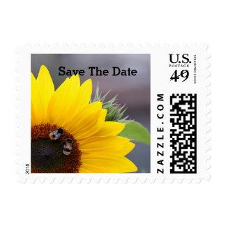 Sunflower Wedding Postage Stamp