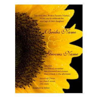 Sunflower Wedding Postcard Invitation