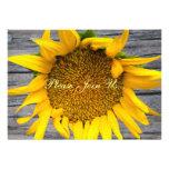 Sunflower Wedding Postwood Gray III Invitations