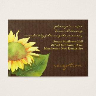 Sunflower Wedding Reception Insert