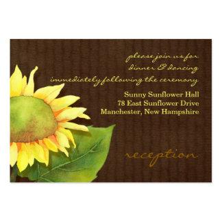Sunflower Wedding Reception Insert Cards (3.5x2.5) Business Card