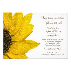Sunflower Wedding Rehearsal Dinner Invitation