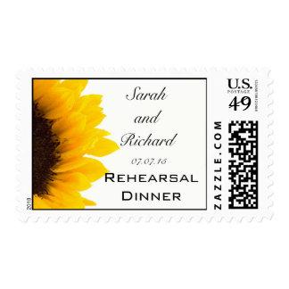 Sunflower Wedding Rehearsal Dinner Postage