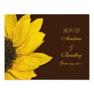 Sunflower Wedding Response Card