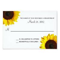 Sunflower Wedding RSVP 3.5x5 Paper Invitation Card (<em>$1.86</em>)