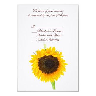 Sunflower Wedding RSVP Card