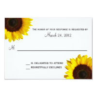Sunflower Wedding RSVP Card (<em>$1.86</em>)