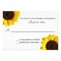 Sunflower Wedding RSVP Custom Invites (<em>$1.75</em>)