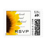 Sunflower Wedding RSVP Postage