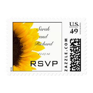Sunflower Wedding RSVP Postage