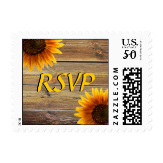 Sunflower Wedding RSVP Stamp