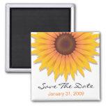Sunflower Wedding Save The Date Announcement Refrigerator Magnet