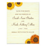 "Sunflower wedding Save the date card 4.25"" X 5.5"" Invitation Card"