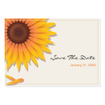 Sunflower Wedding Save The Date MiniCard 2 Large Business Cards (Pack Of 100)