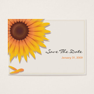 Sunflower Wedding Save The Date MiniCard 2 Business Card