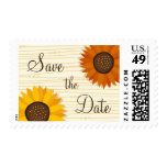 Sunflower wedding Save the date postage stamp