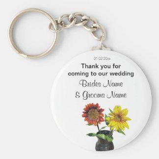 Sunflower Wedding Souvenirs Keepsakes Giveaways Keychain