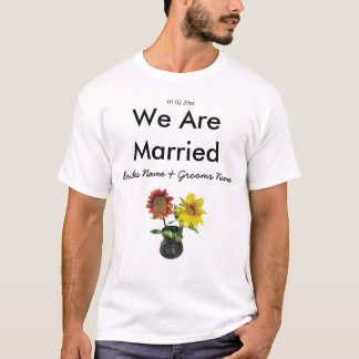 Sunflower Wedding Souvenirs Keepsakes Giveaways T-Shirt