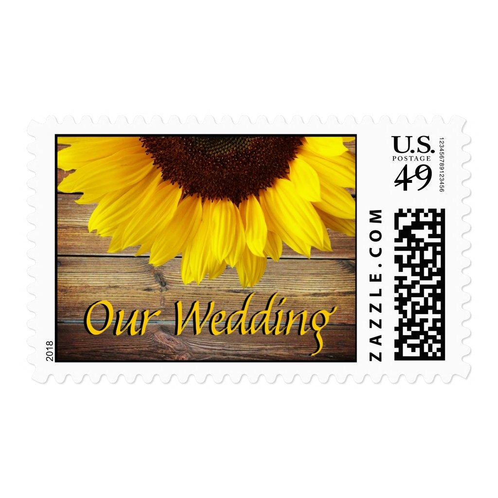 Sunflower Wedding Stamp