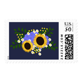 Sunflower Wedding Stamp