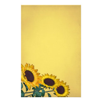 Sunflower Wedding Stationery Design