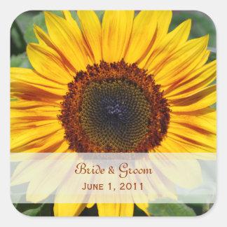 Sunflower Wedding Stickers