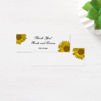 Sunflower Wedding Thank You Favor Tags