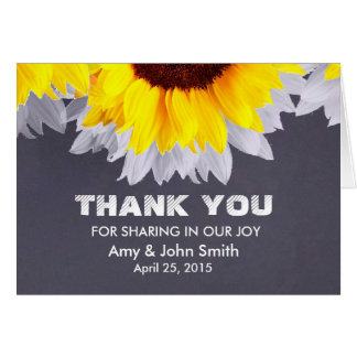 Sunflower wedding thank you notes sunflwr2