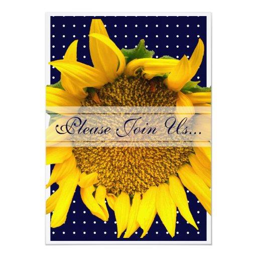 Sunflower Wedding with dots Card