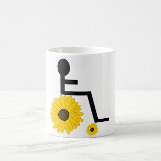 Sunflower Wheelchair Coffee Mug