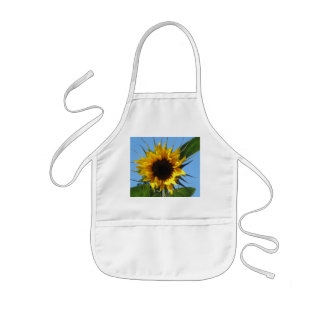 Sunflower White Kids' Apron