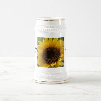 Sunflower wishes 18 oz beer stein