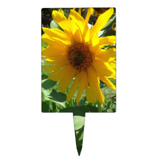 Sunflower with Bees Cake Topper