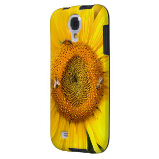 Sunflower with Bees Galaxy S4 Case